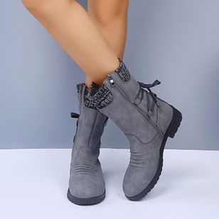 Women's Zipper Ankle Boots Low Heel Boots (106293810)