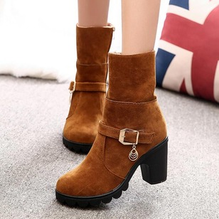 Women's Pumps Boots Pumps Ankle Boots Chunky Heel Leatherette Shoes