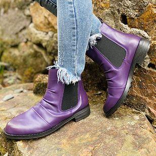 Women's Ankle Boots Round Toe Low Heel Boots (111110240)