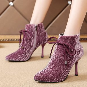 Zipper Ankle Boots Stiletto Heel Shoes