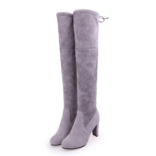 Women's Boots Over The Knee Boots Stiletto Heel Leatherette Shoes