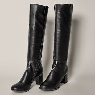 Women's Zipper Knee High Boots Chunky Heel Boots (1494634)