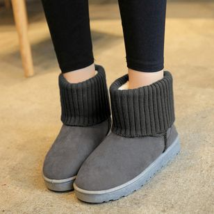 Split Joint Ankle Boots Flat Heel Shoes