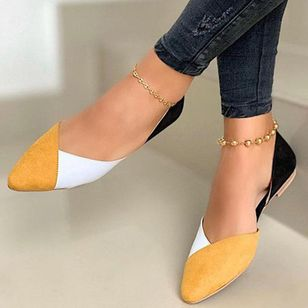 Women's Closed Toe Low Heel Pumps (146788891)