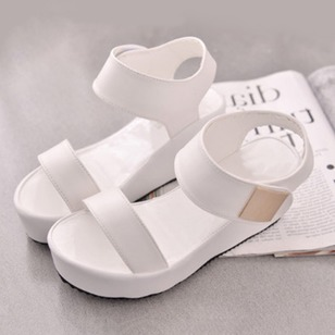 Women's Sandals Wedges Wedge Heel Leatherette Shoes