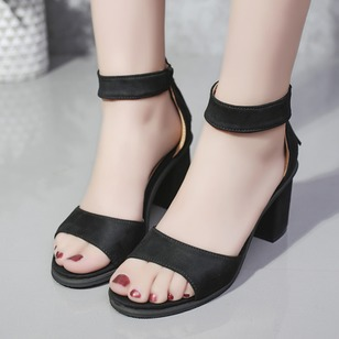 acbb3cf2bcc3 Ankle Strap Heels Chunky Heel Shoes