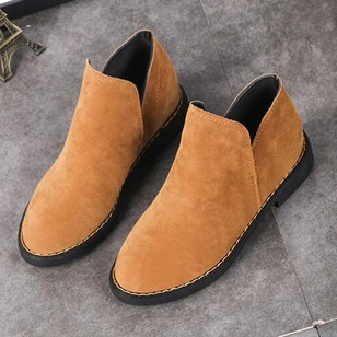 Women's Boots Ankle Boots Chunky Heel Suede Shoes