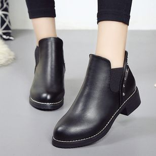 Ankle Boots Low Heel Shoes