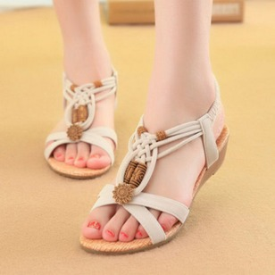 Women's Sandals Slingbacks Wedge Heel Suede Shoes