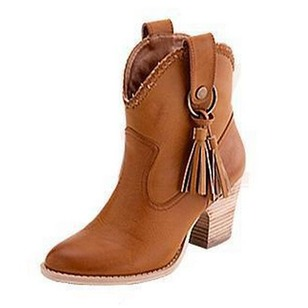 Women's Boots Boots Chunky Heel Leatherette Shoes