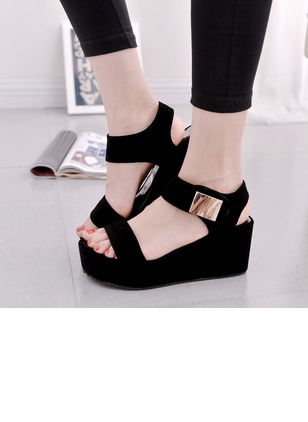 Women's Pumps Sandals Sandals Pumps Wedge Heel Leatherette Shoes