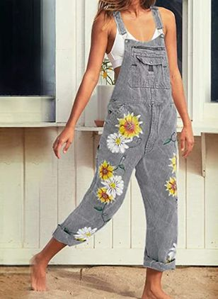 Women's Straight Jeans Jumpsuits (4044122)