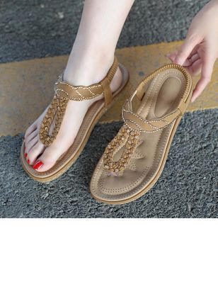 Women's Braided Strap Slingbacks Flat Heel Sandals