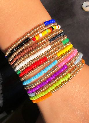 Cute Round No Stone Bangle Bracelets (1527883)