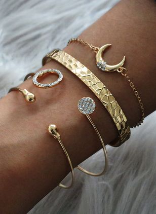 Casual Maan Edelsteen Bangle Armbanden (106153949)