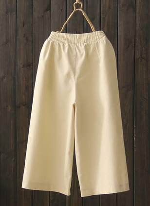 Straight Cotton Pants Pants & Leggings