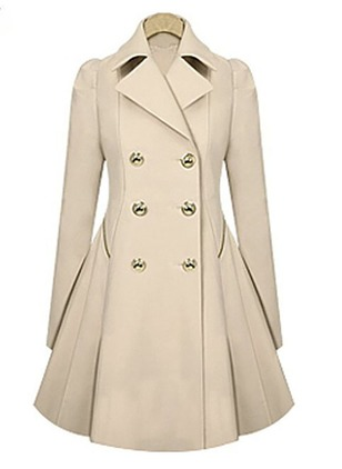 Long Sleeve Collar Peacoats