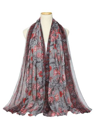 Casual Floral Scarves (147058904)