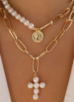 Casual Ball Pearls Pendant Necklaces (146945255)