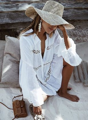 Solid Cover-Ups Swimwear