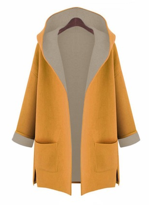 Cotton & Cotton Blend Long Sleeve Hooded Others Coats Coats & Jackets