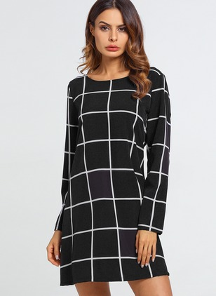 Polyester Long Sleeve Above Knee Dresses