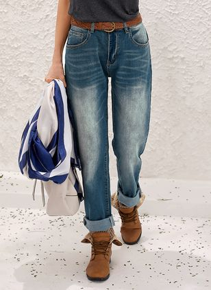 Women's Straight Jeans Pants (1532296)