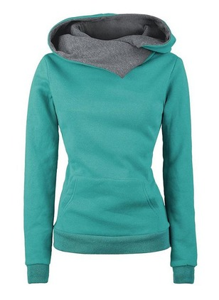Solid Hooded Pockets Others Sweatshirts