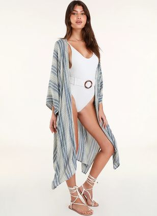 Color Block Cover-Ups Swimwear