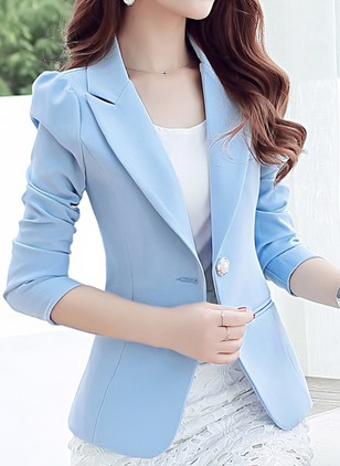 Long Sleeve Lapel Buttons Blazers