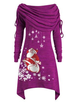 Christmas Character Off the Shoulder Above Knee X-line Dress (128228967)