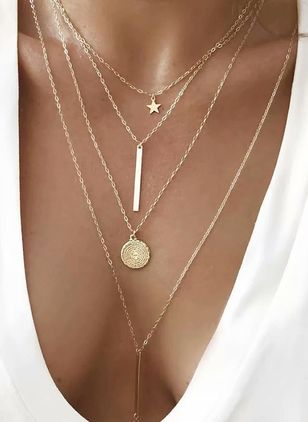 Casual Star No Stone Pendant Necklaces (1494595)