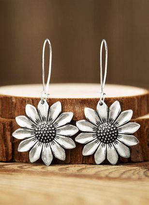 Casual Floral Dangle Earrings (147243344)