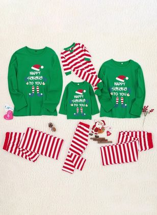 Family Look Alphabet Christmas Long Sleeve Family Outfits (122030173)