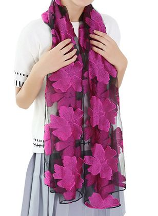 Casual Floral Scarves (106153655)