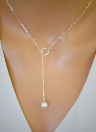 Casual Ball Pearls Pendant Necklaces (147086667)