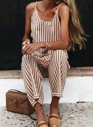Women's Loose Pants Jumpsuits (4042976)