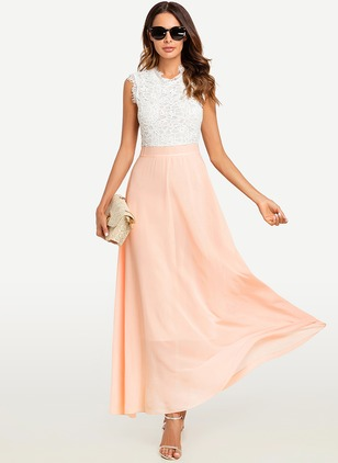 Solid Tank Sleeveless Maxi Sheath Dress