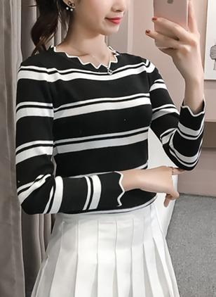 Others Stripe Tight Sweaters