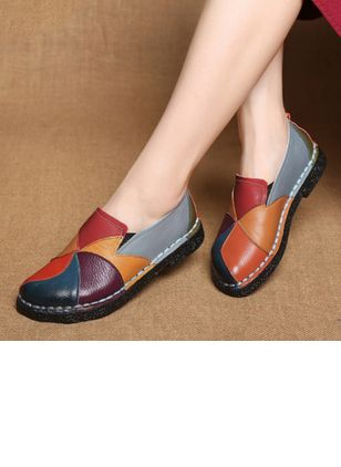 Women's Split Joint Closed Toe Low Heel Flats