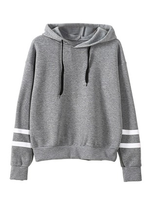 Color Block Casual Hooded Sashes Sweatshirts
