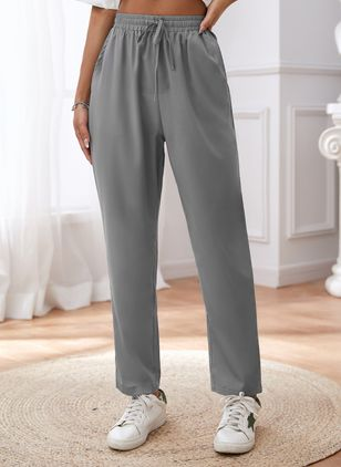 Casual Loose Low Waist Polyester Pants (147017500)