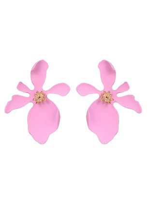 Casual Floral No Stone Stud Earrings (147243713)
