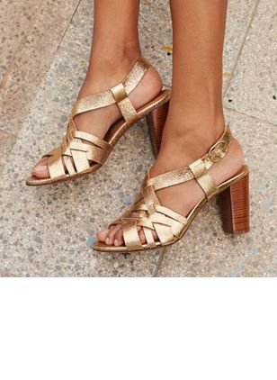 Buckle Heels Chunky Heel Shoes