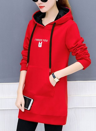 Polyester Long Sleeve Hooded Pockets Jackets