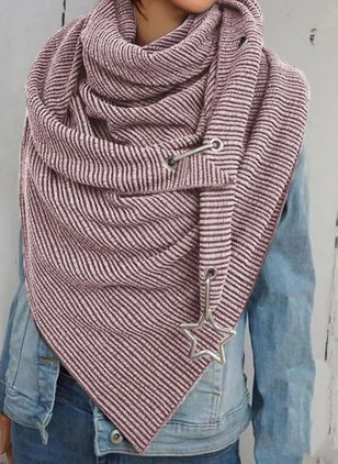 Casual Geometric Scarves (122028650)