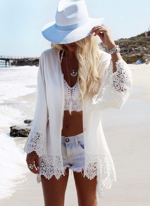 Polyester Pattern Cover-Ups Swimwear