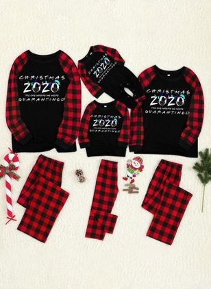 Family Look Alphabet Christmas Long Sleeve Family Outfits (146719026)