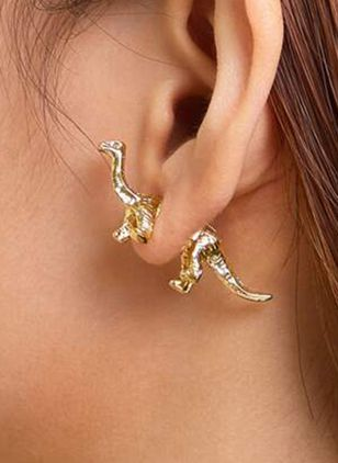 Casual Animal No Stone Stud Earrings (106821525)