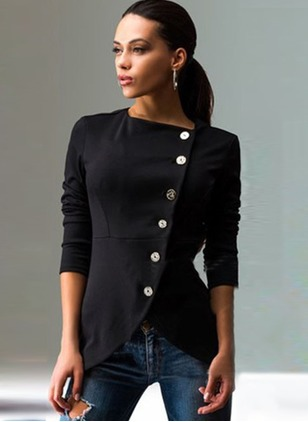 Polyester Long Sleeve Round Neck Jackets